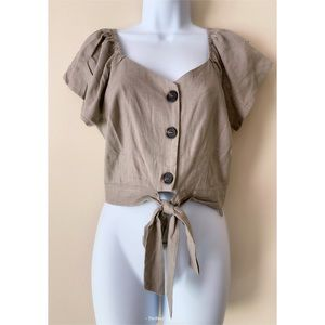 NWT Sage the Label Button Crop Top size Small